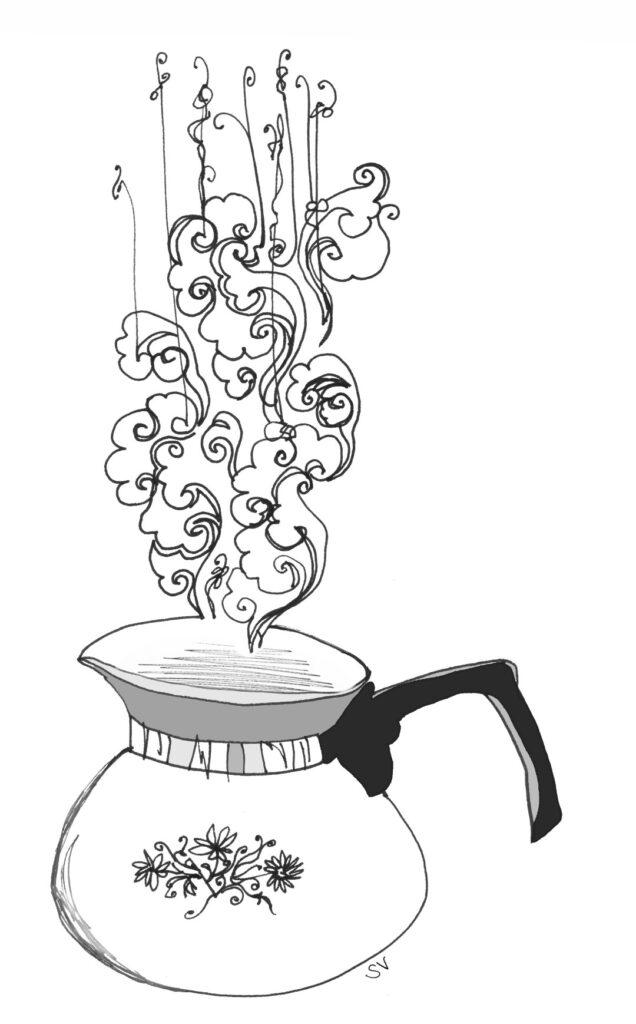 bouilloire tarabiscotée