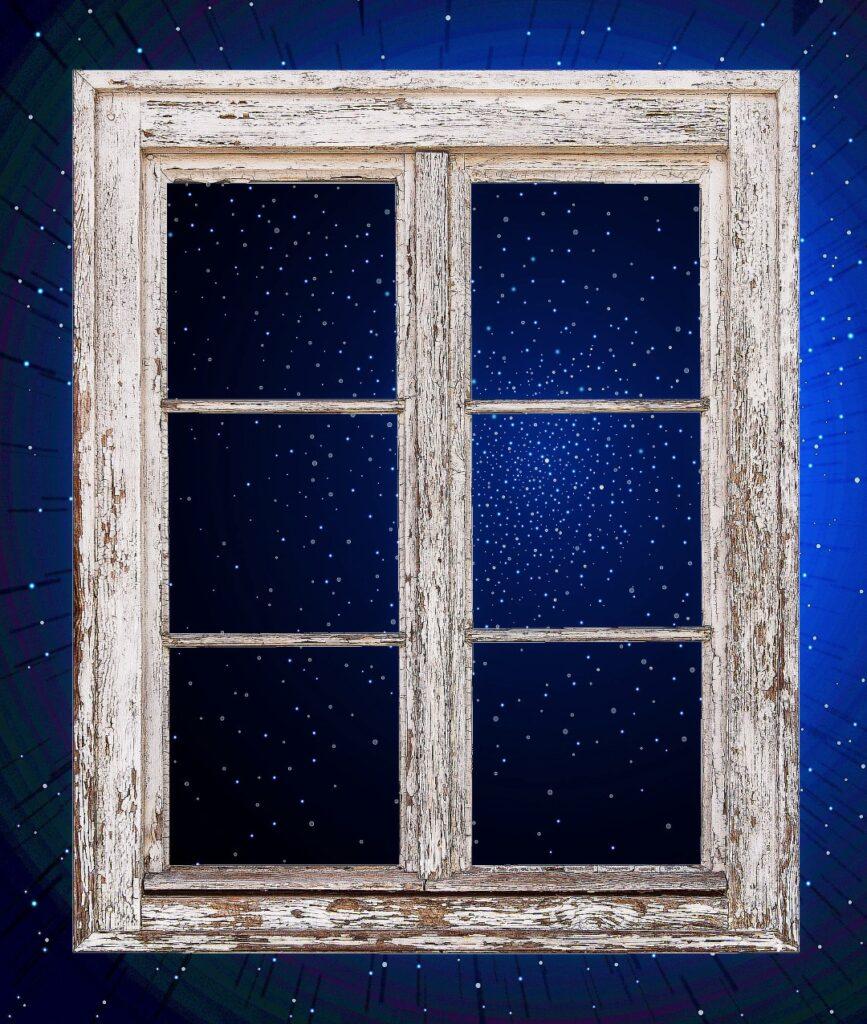 La nuit pesait sur la fenêtre